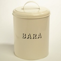 Large Round Bara Bin with Cream Lid