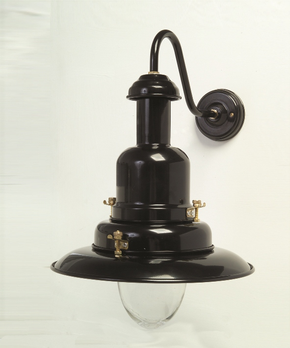 Wall Mounted Fisherman S Lamp : Large Fisherman Wall Lamp Black