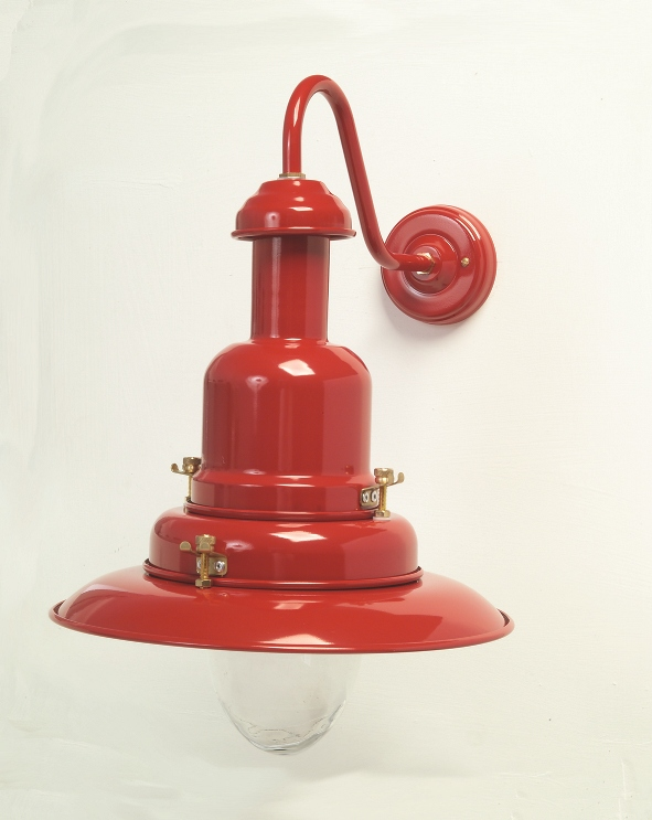 Wall Mounted Fisherman S Lamp : Large Fisherman Wall Lamp Red